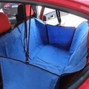 Автогамак для перевозки собак в машине синий