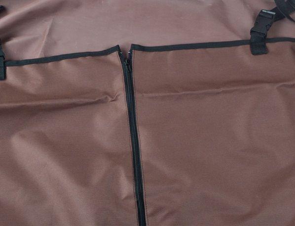 Автогамак для перевозки собак в машине коричневый