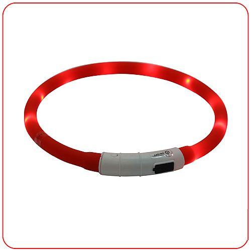 Светящийся ошейник силиконовый с USB зарядкой