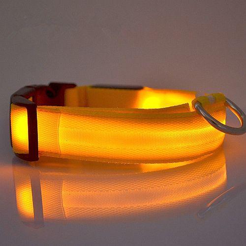 Светящийся ошейник с USB зарядкой