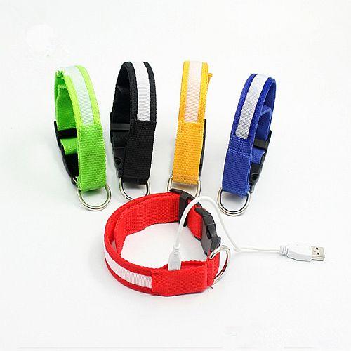 Светящийся ошейник с USB зарядкой все цвета