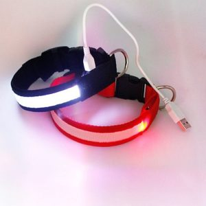 Светящийся ошейник с USB зарядкой все размеры