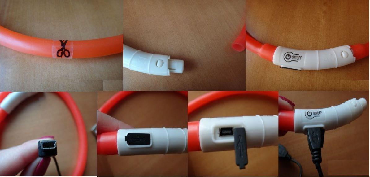 Светящийся ошейник силиконовый обзор конструкции зарядка