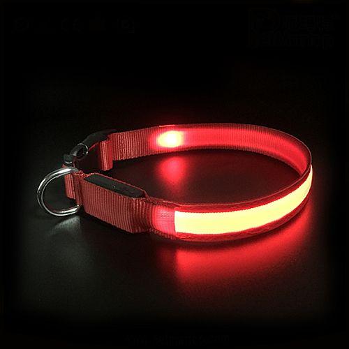 Светящийся ошейник PET5200 красный
