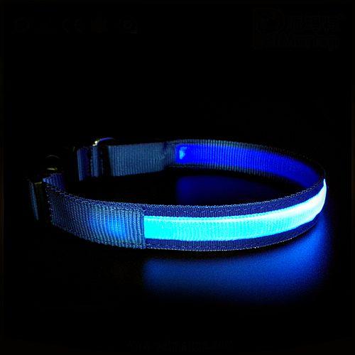 Светящийся ошейник PET5200 синий