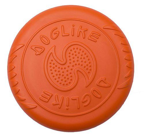 DT 7335 ДОГЛАЙК Летающая тарелка большая д/собак всех пород (оранжевый) *10