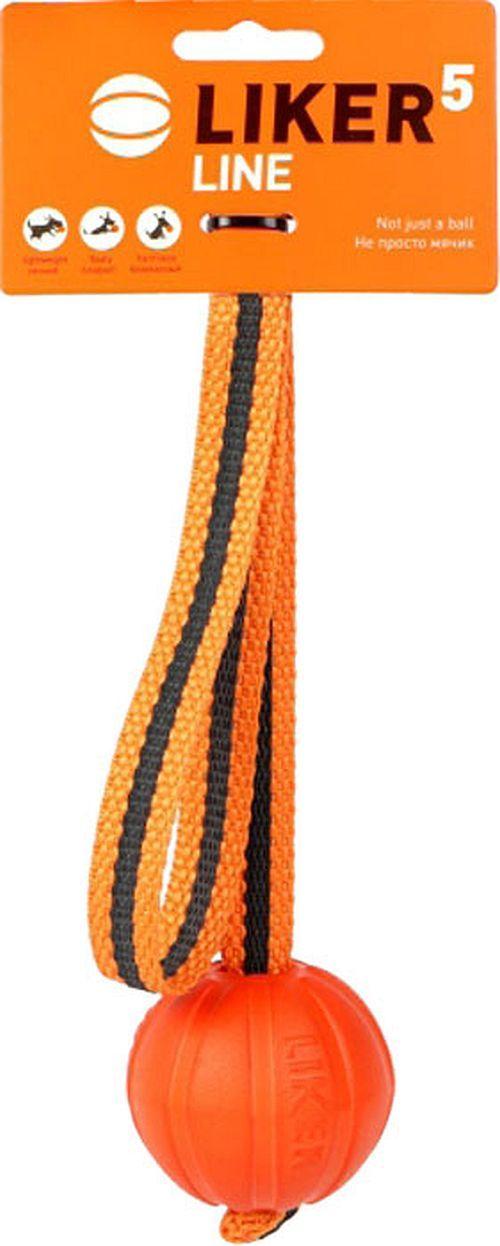 LIKER Мячик Лайкер Лайн на шнуре оранжевый*12