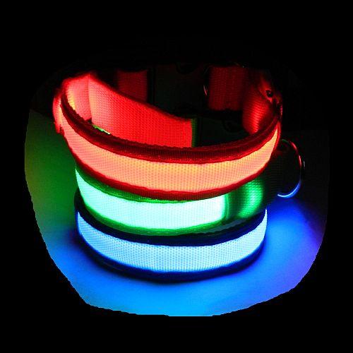 Светящийся ошейник для собак с USB зарядкой Свечение