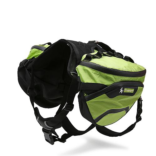 Рюкзак переноска для собак на шлейке зеленый