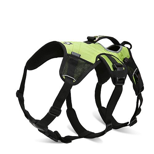 Рюкзак переноска для собак на шлейке отстегиваемый зеленый