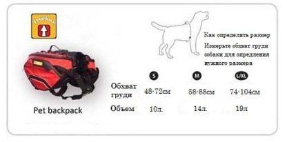 Сумка рюкзак для собак как определить размер