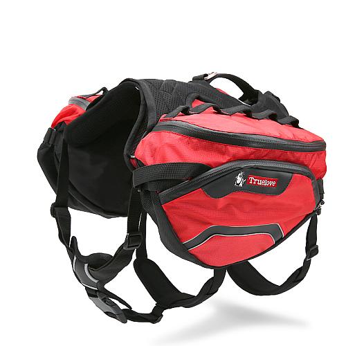 Съемный рюкзак переноска для собак на шлейке красный