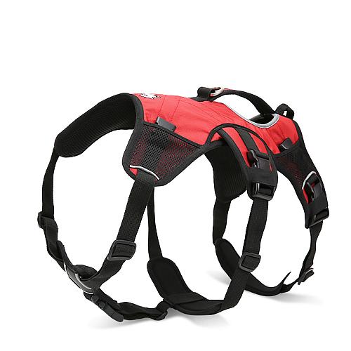 Рюкзак переноска для собак на шлейке красный