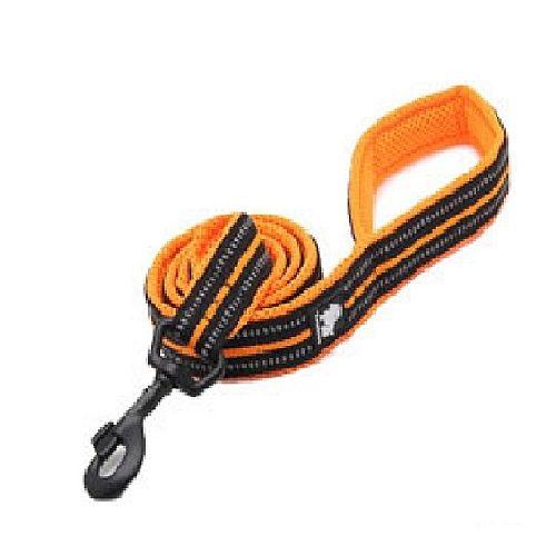 Поводок для собак Truelove с мягкой ручкой. Цвет оранжевый