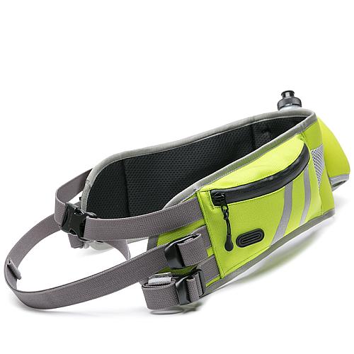 Пояс для бега с собакой неоновый с карманом и питьевой системой. Truelove