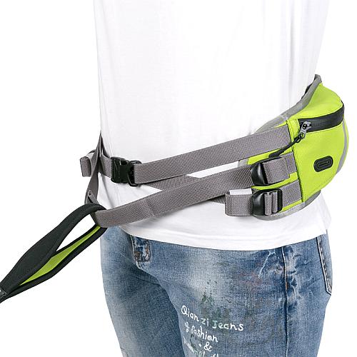 Пояс для скиджоринга неоновый с карманом и питьевой системой. Truelove