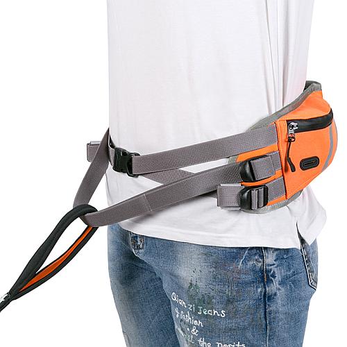 Пояс для скиджоринга оранжевый с карманом и питьевой системой. Truelove