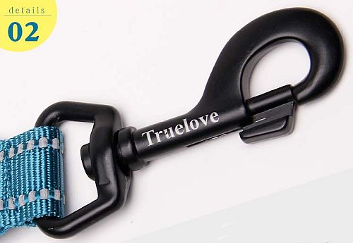 Поводок для собак Truelove с мягкой ручкой. Легкий и прочный карабин