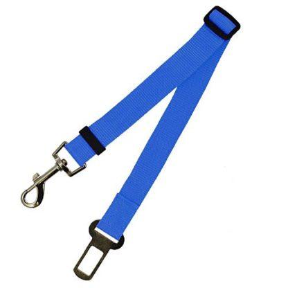 Поводок безопасности для собак в машине синий