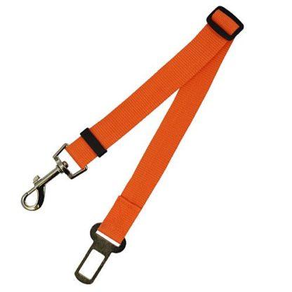 Поводок безопасности для собак в машине оранжевый