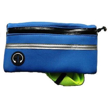 Поводок с сумкой для бега с собакой синий