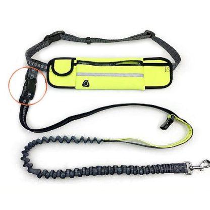 Поводок с сумкой для бега с собакой крепление поводка