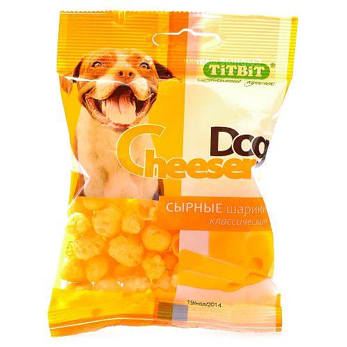 Лакомство для собак сырные шарики CheeserDog классические