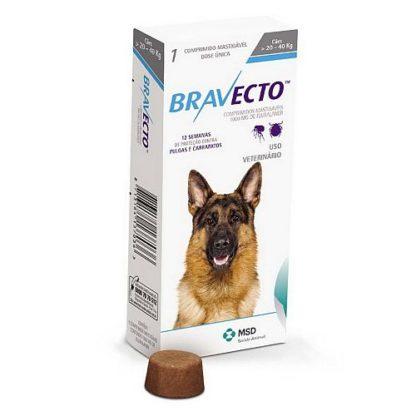 BRAVECTO таблетка от клещей и блох, 20-40 кг