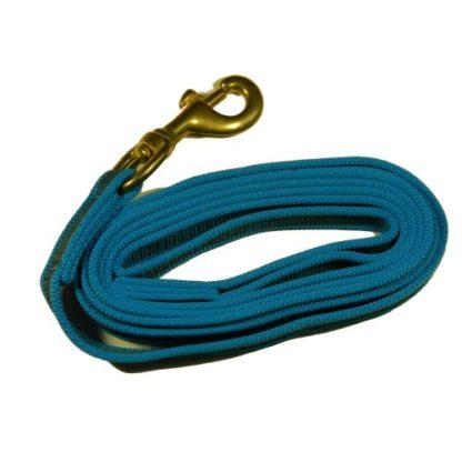Поводок для собаки прорезиненный Синий