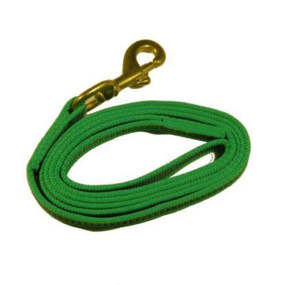 Поводок для собаки прорезиненный Зеленый
