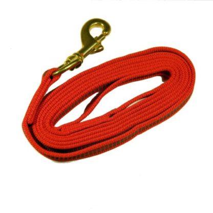 Поводок для собаки прорезиненный красный