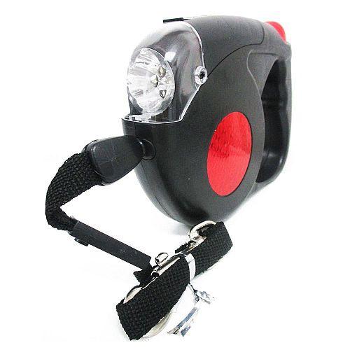 Рулетка для собак R733 5 метров с фонариком
