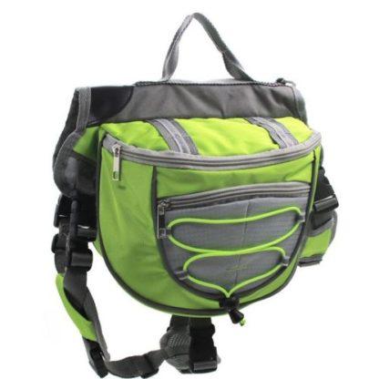 Сумка рюкзак на спину собаке для походов зеленая
