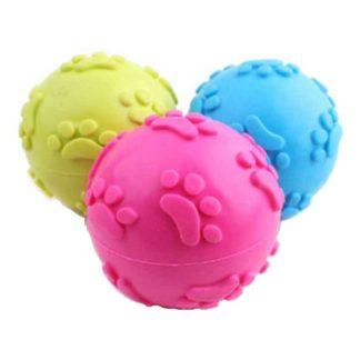 Резиновый мячик с пищалкой для собак