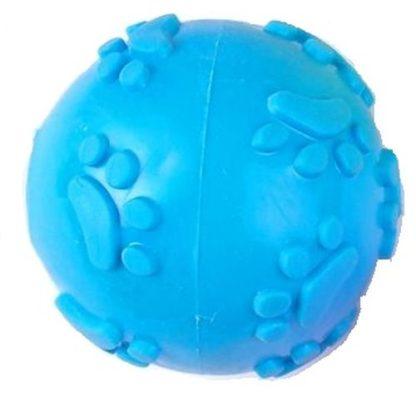 Резиновый мячик с пищалкой для собак синий
