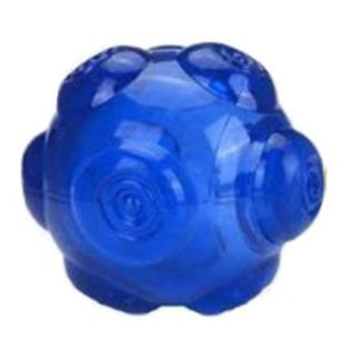 Эластичный плавающий мячик для собак синий