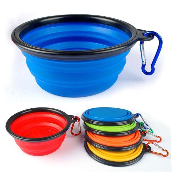 Походная миска для собак синяя