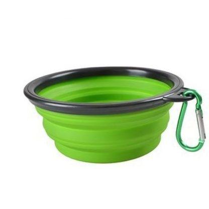 Походная миска для собак зеленая