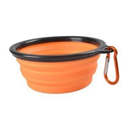 Походная миска для собак оранжевая