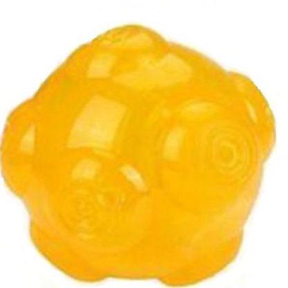 Эластичный плавающий мячик для собак желтый
