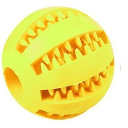 Игрушка для собак мячик желтый