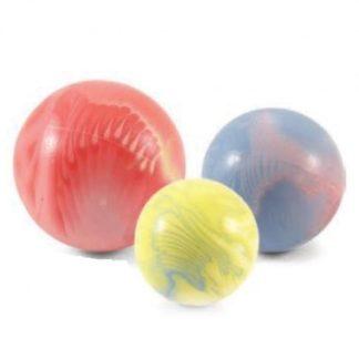 Мяч цельнорезиновый для собак цветной