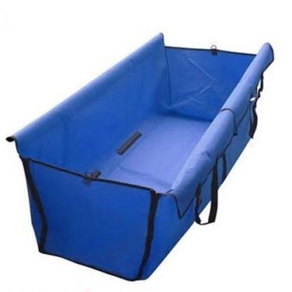 Автогамак для собак синий