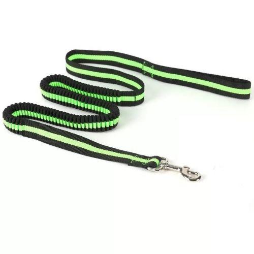 Поводок с амортизатором зеленый неон