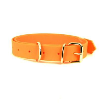 Ошейник для собак из биотана оранжевый