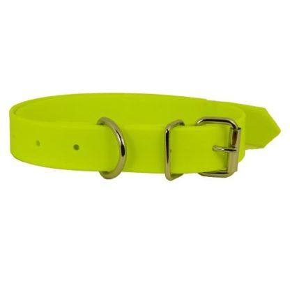 Ошейник для собак из биотана желтый