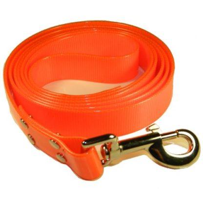 Поводок из биотана оранжевый 200см с ручкой
