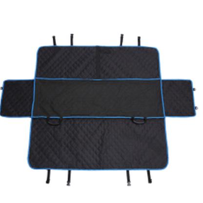 Автогамак для перевозки любых собак стеганный усиленный голубая окантовка