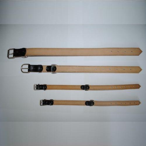 Ошейник кожаный прошитый 450-650мм натуральная кожа