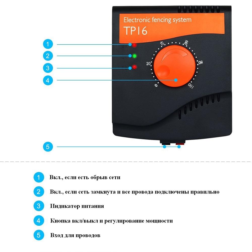 Электронный забор для собак TP 16 пульт органы управления
